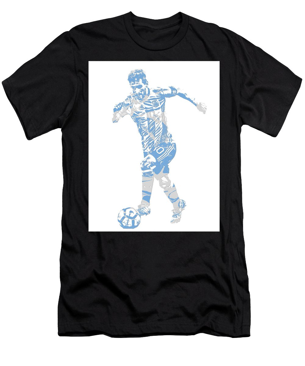 1aa4b24d7e7 Lionel Messi Men s T-Shirt (Athletic Fit) featuring the mixed media Lionel  Messi