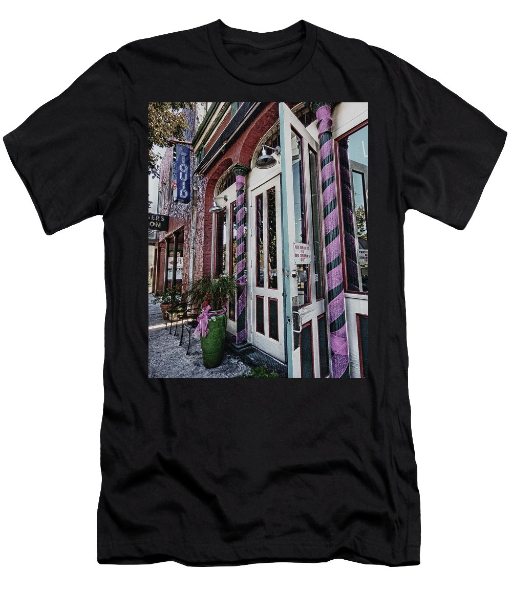 Mobile Men's T-Shirt (Athletic Fit) featuring the digital art Liquid by Michael Thomas