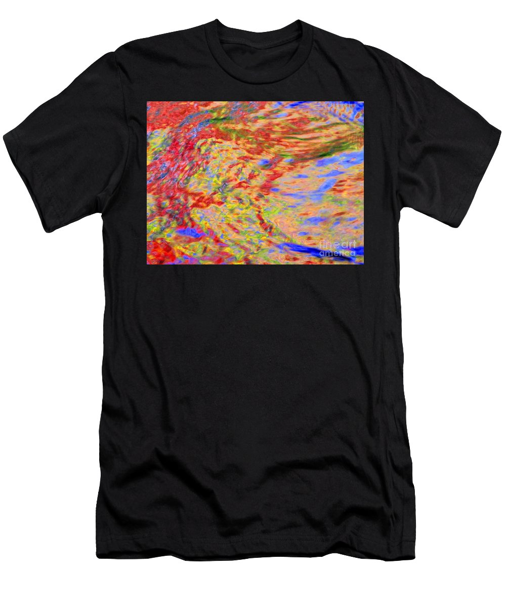 Abstract Men's T-Shirt (Athletic Fit) featuring the photograph Listening To The Water by Sybil Staples