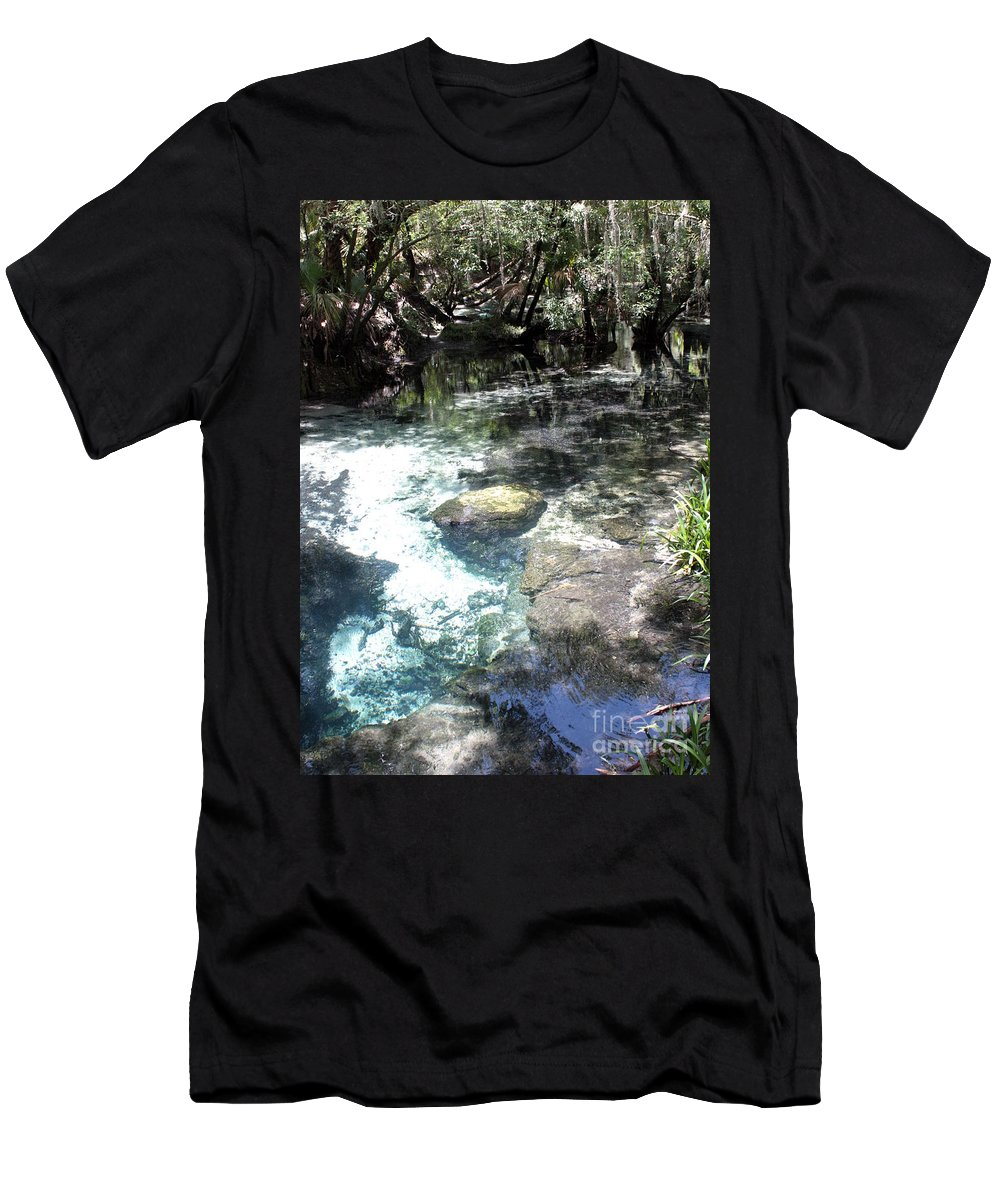 Lithia Springs Men's T-Shirt (Athletic Fit) featuring the photograph Lithia Springs by Carol Groenen