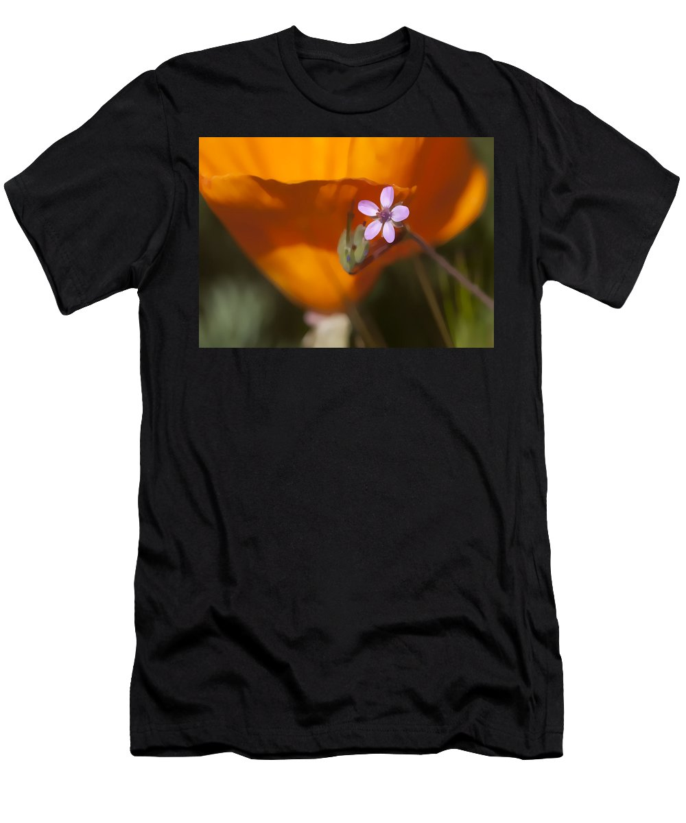 Wildflower Men's T-Shirt (Athletic Fit) featuring the digital art Little Beauty by Sharon Foster
