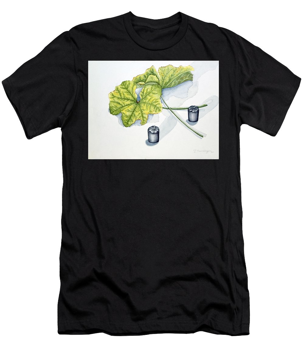 Candles Men's T-Shirt (Athletic Fit) featuring the painting Little Black Candles by Judy Henninger