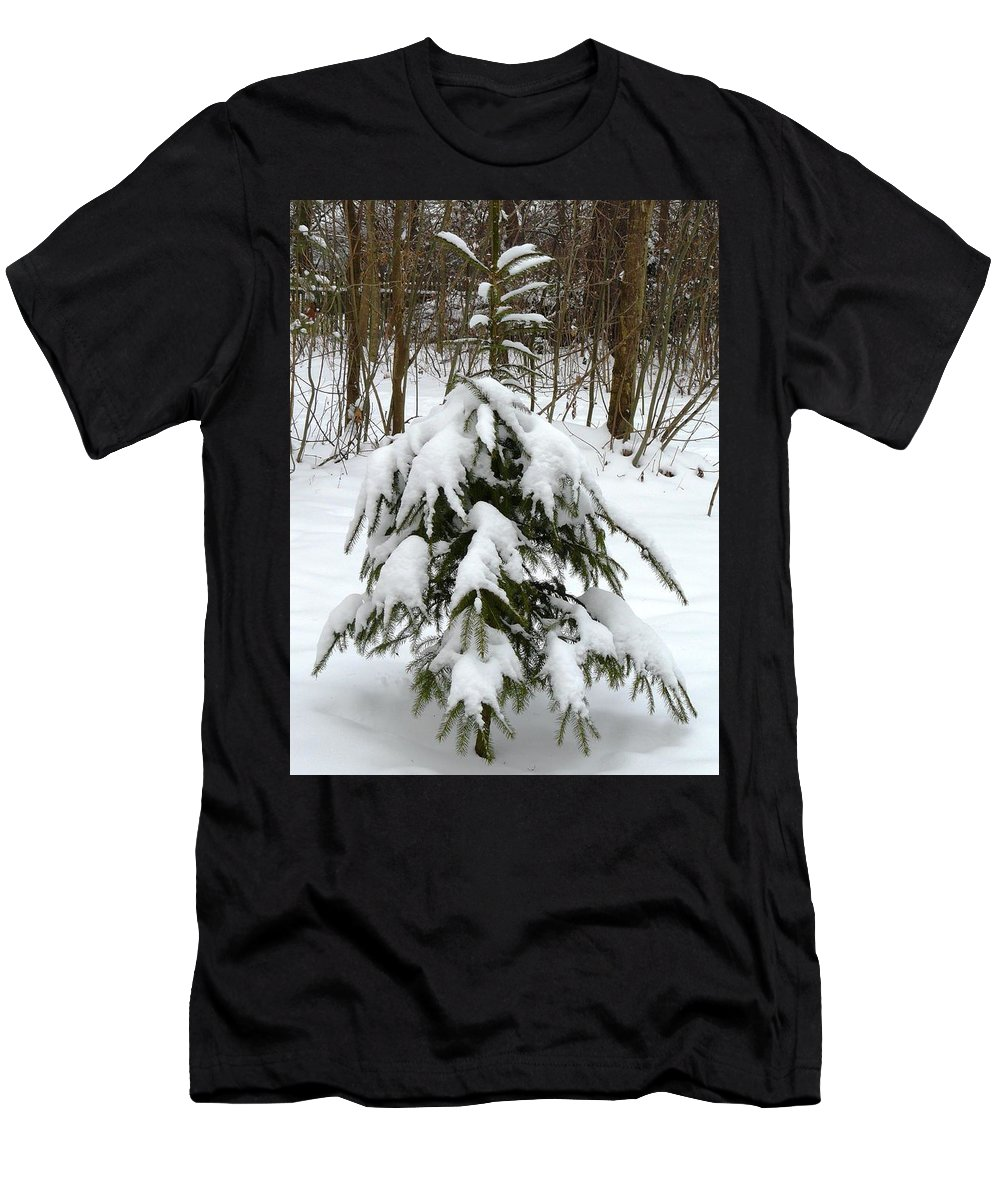 Christmas Men's T-Shirt (Athletic Fit) featuring the photograph Little Christmas Tree by Valerie Ornstein