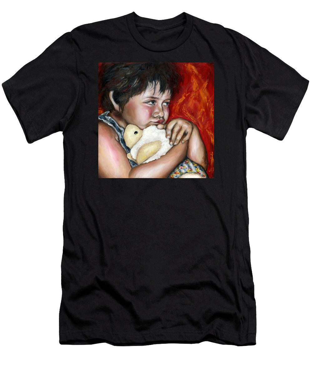 Cute Men's T-Shirt (Athletic Fit) featuring the painting Little Fighter by Hiroko Sakai