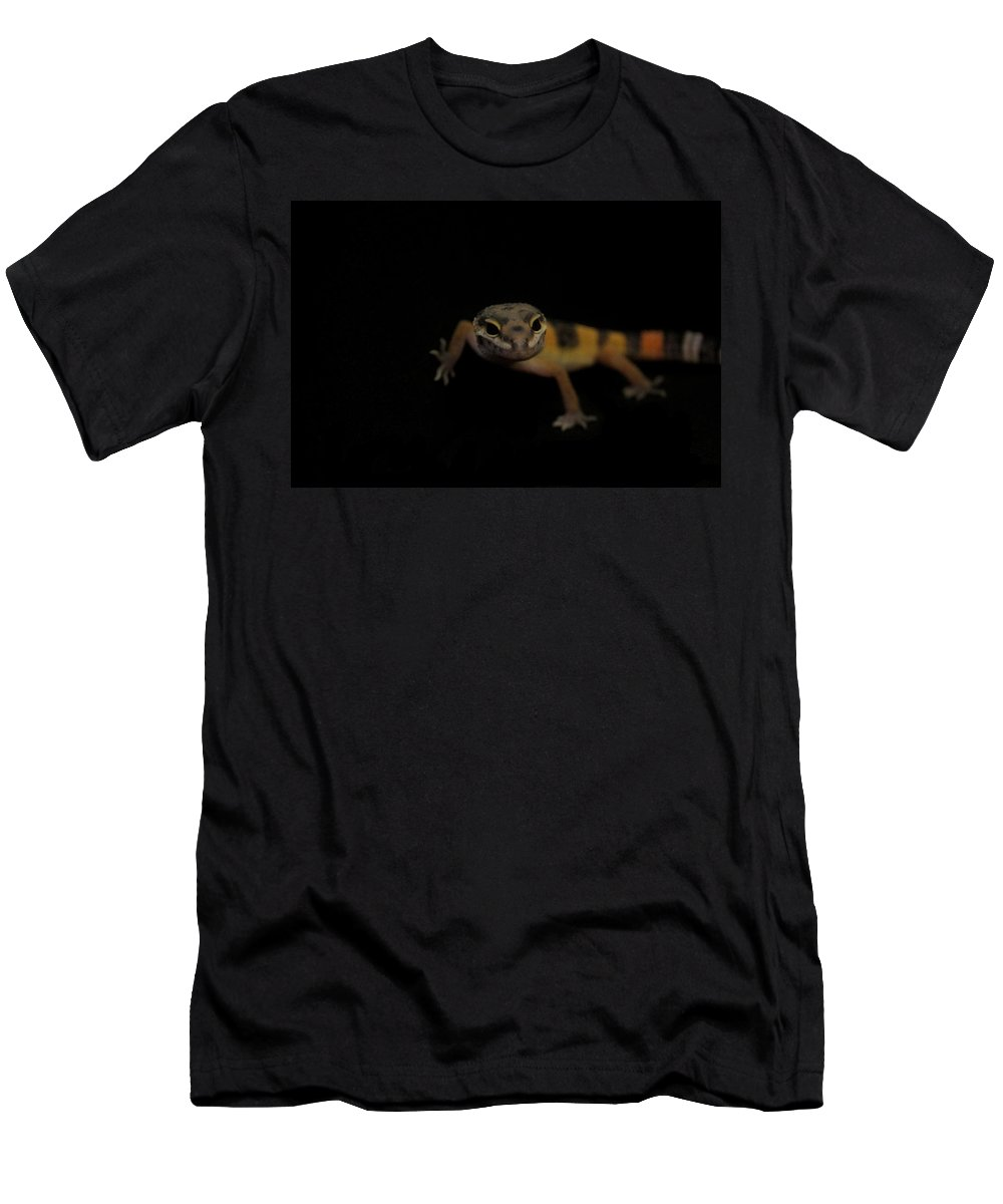 Gecko Men's T-Shirt (Athletic Fit) featuring the photograph Little Gecko by Natalie Hood