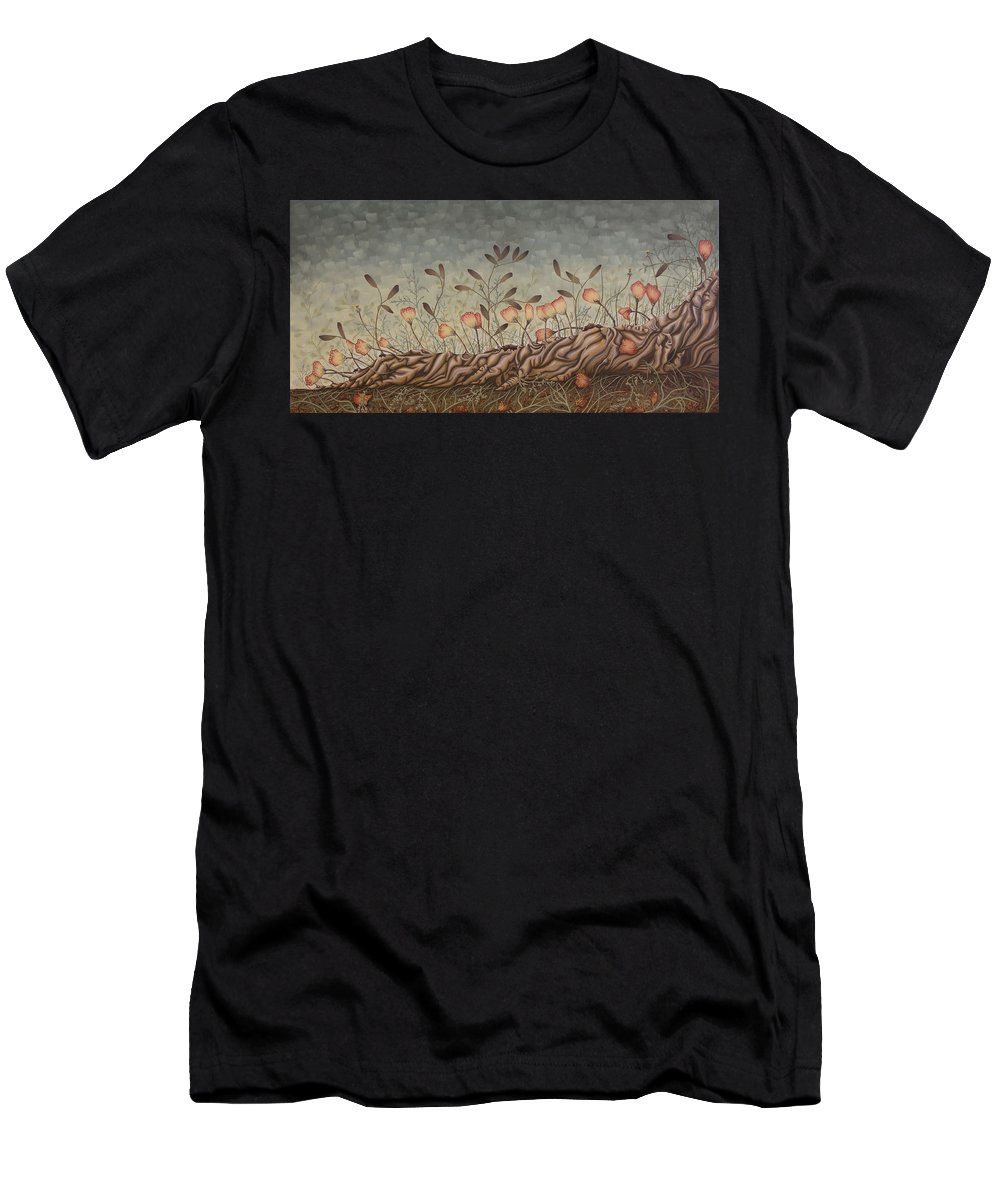 Sex Men's T-Shirt (Athletic Fit) featuring the painting Little Gods by Judy Henninger