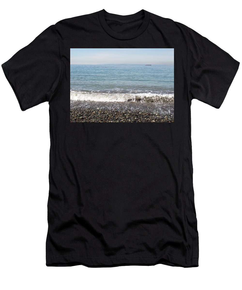 Beach Men's T-Shirt (Athletic Fit) featuring the photograph Little Roller Beach by Benjamin Hanna
