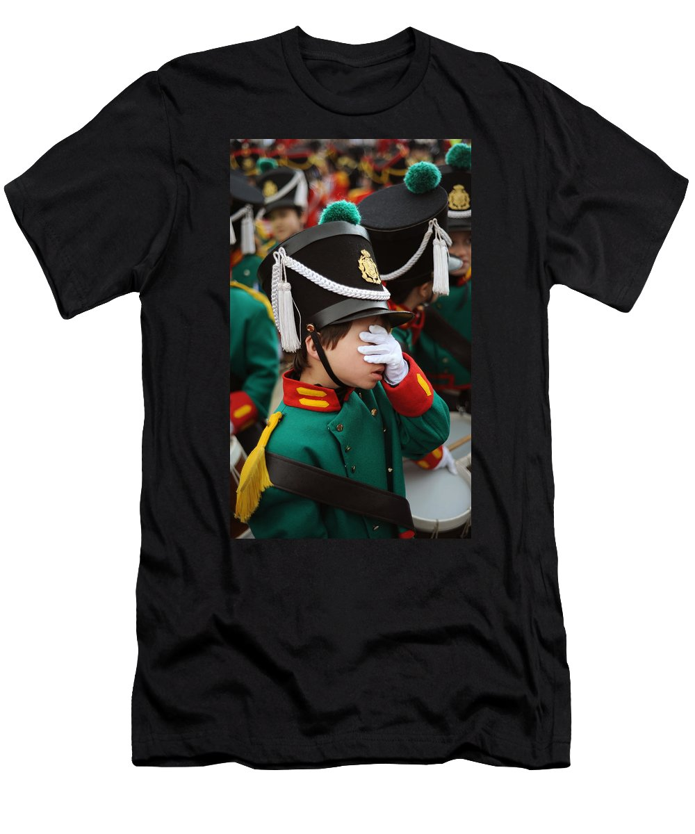 Spain Men's T-Shirt (Athletic Fit) featuring the photograph Little Soldier I by Rafa Rivas