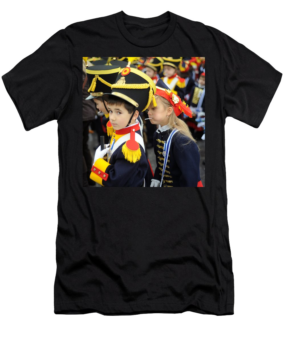 Spain Men's T-Shirt (Athletic Fit) featuring the photograph Little Soldiers II by Rafa Rivas