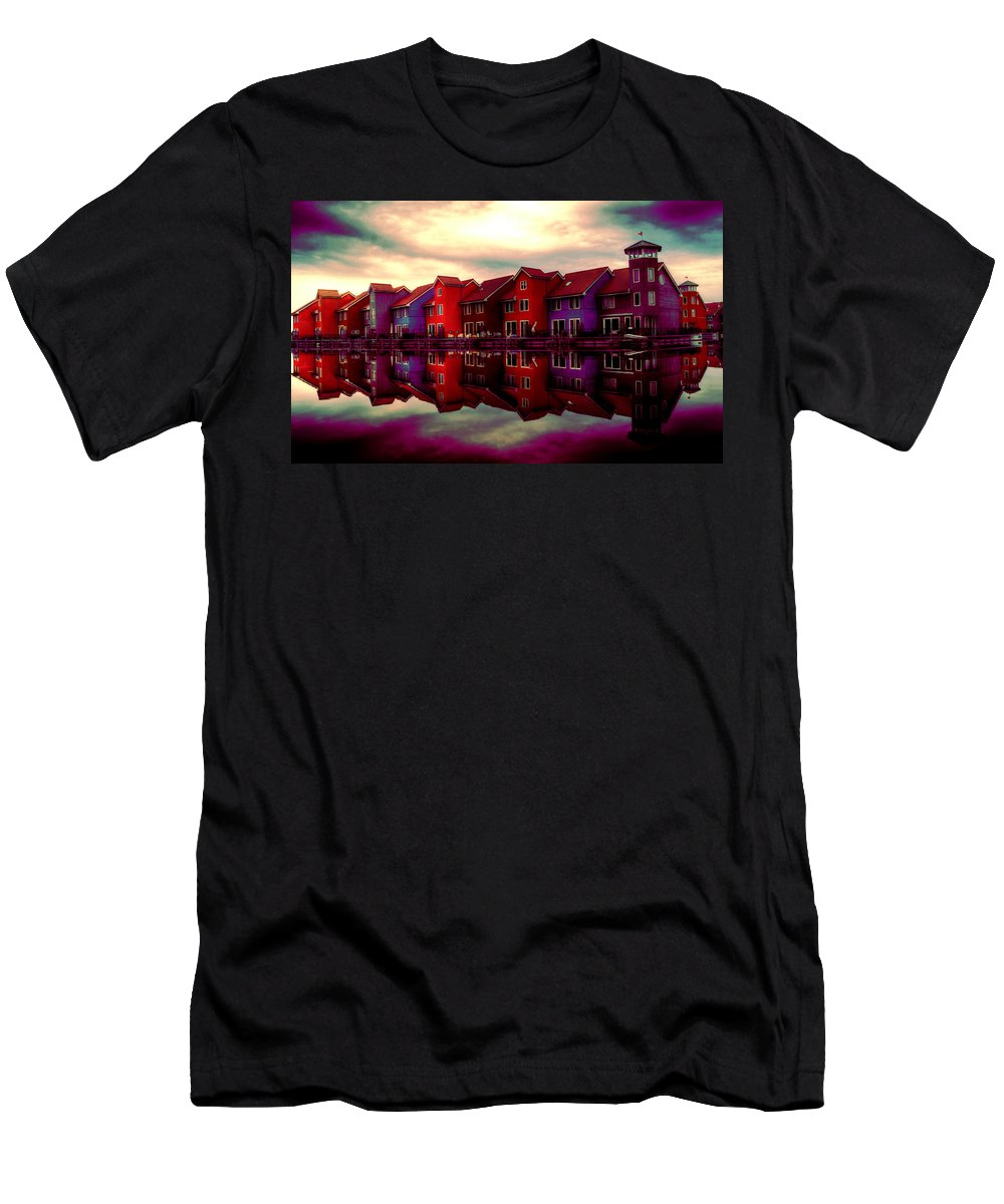 House Men's T-Shirt (Athletic Fit) featuring the digital art Live And Reflect by Lyriel Lyra