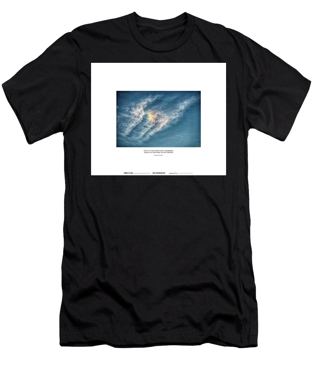 #things Not Seen Men's T-Shirt (Athletic Fit) featuring the photograph Live Forever by Anka Wong