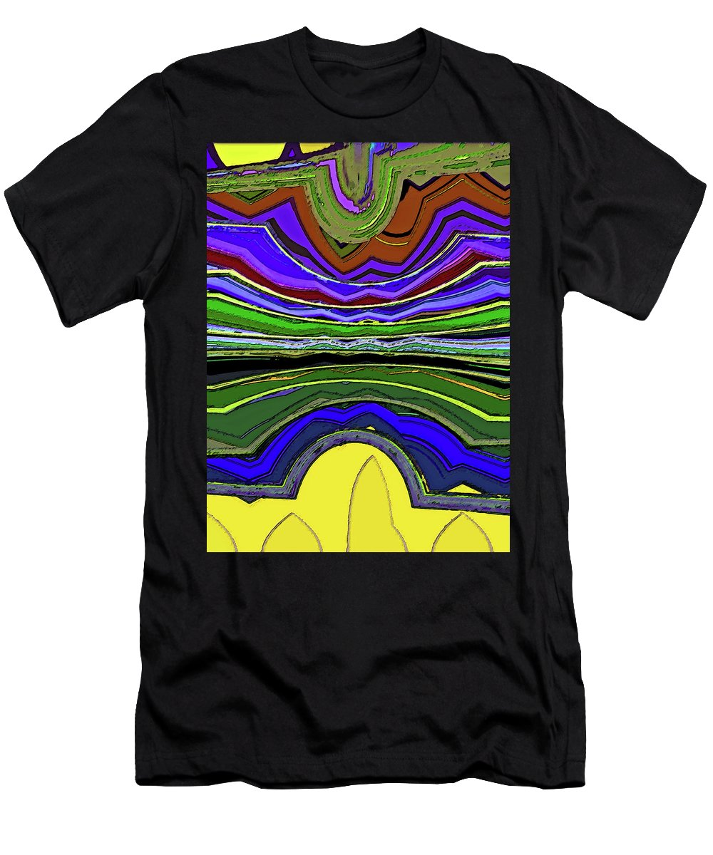 Abstract Men's T-Shirt (Athletic Fit) featuring the digital art Living In Wyoming by Lenore Senior