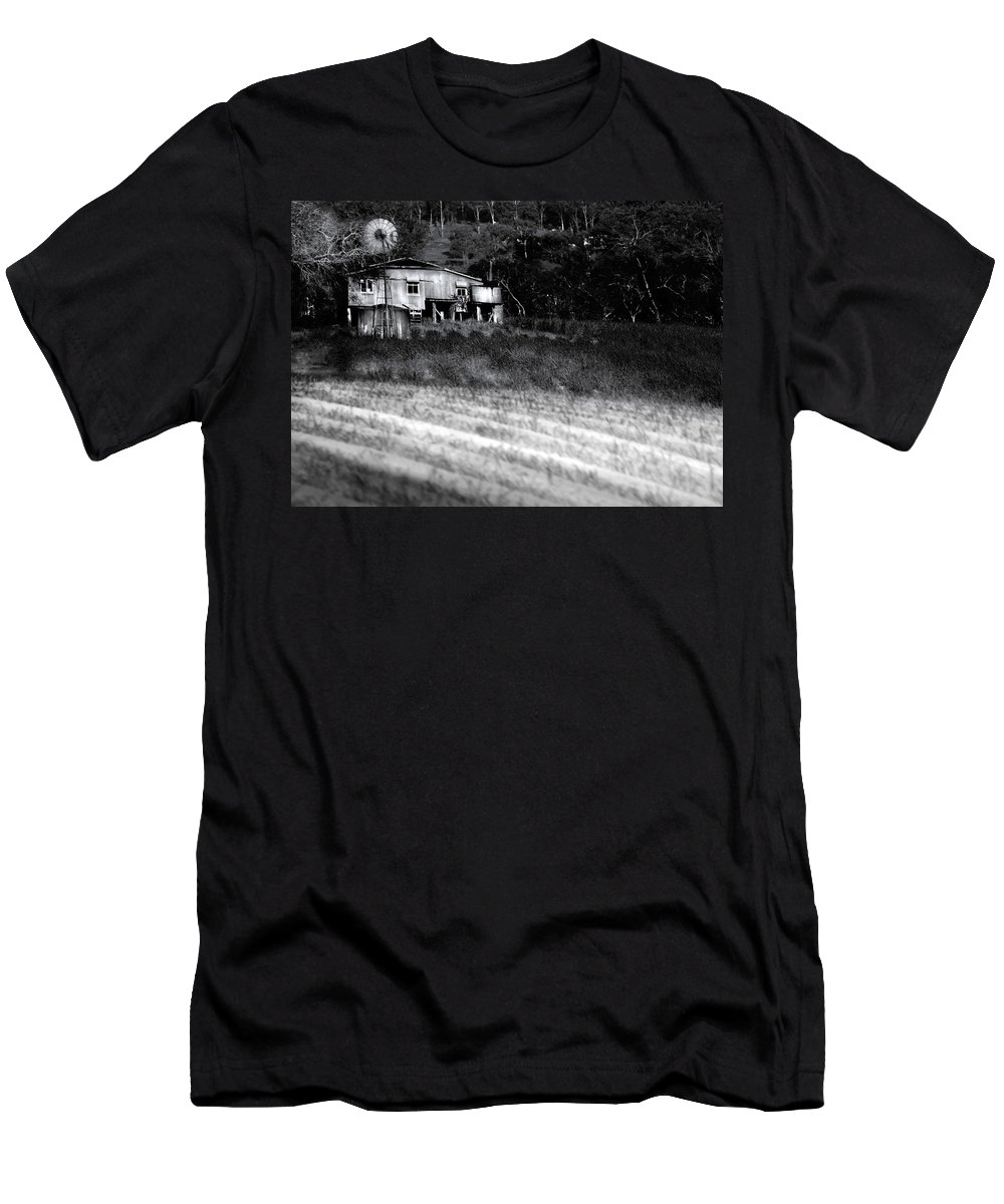 Landscapes Men's T-Shirt (Athletic Fit) featuring the photograph Living On The Land by Holly Kempe