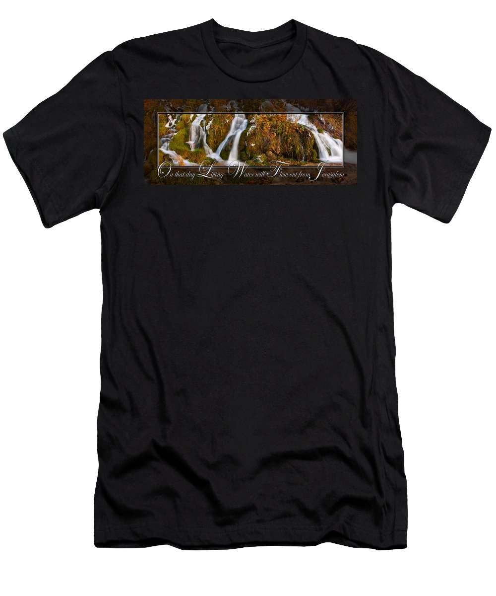 Living Water Men's T-Shirt (Athletic Fit) featuring the photograph Living Water by Ward Thurman