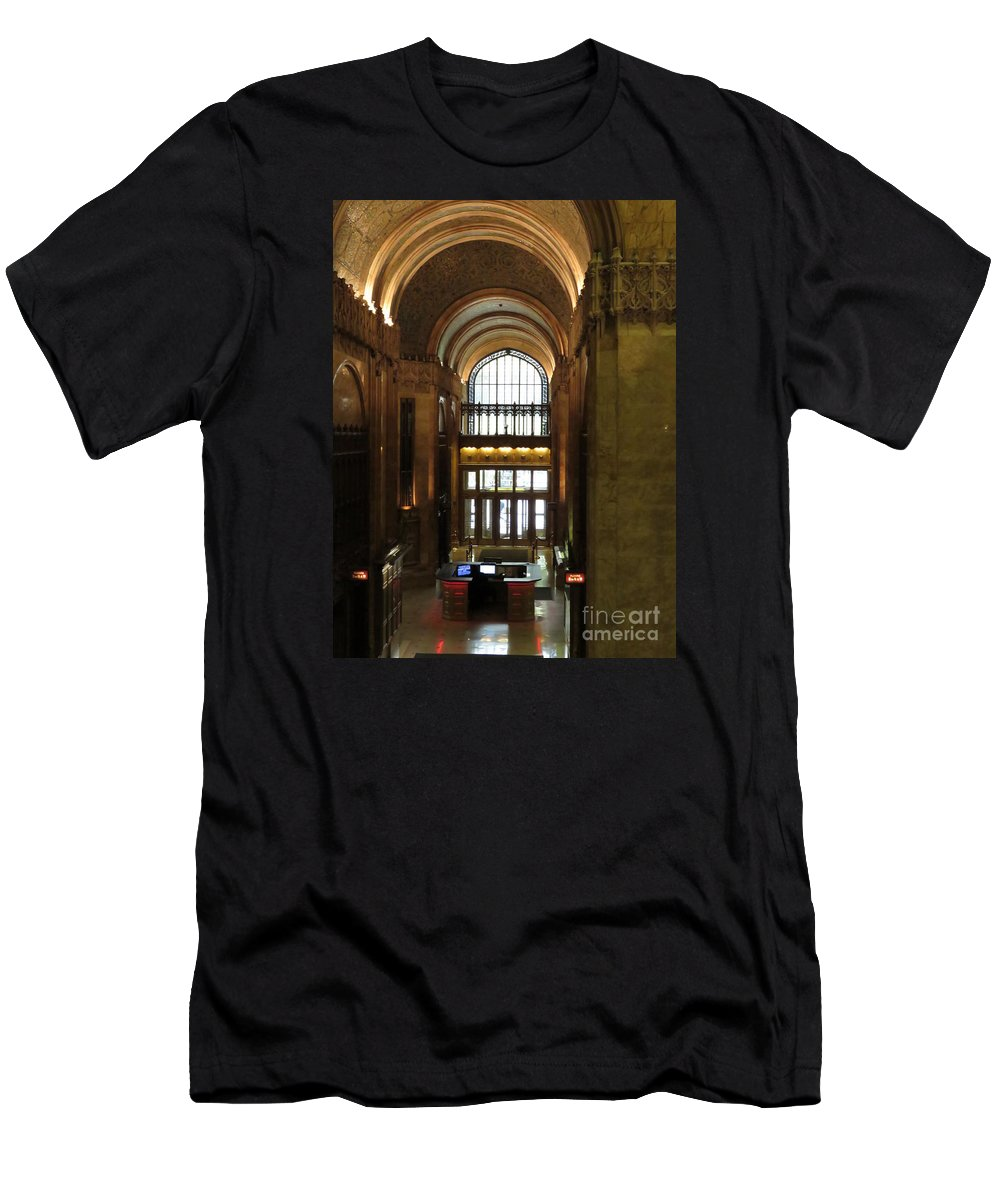 Woolworth Men's T-Shirt (Athletic Fit) featuring the photograph Lobby Of Woolworth Building by Maxine Kamin