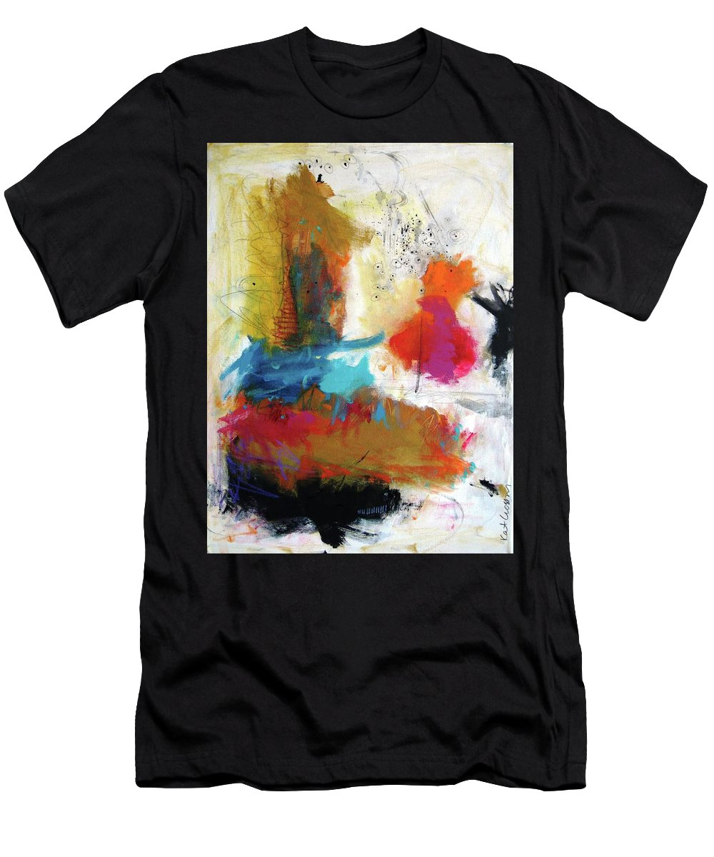 Abstract Men's T-Shirt (Athletic Fit) featuring the painting Locked And Loaded by Kathryn Crosby