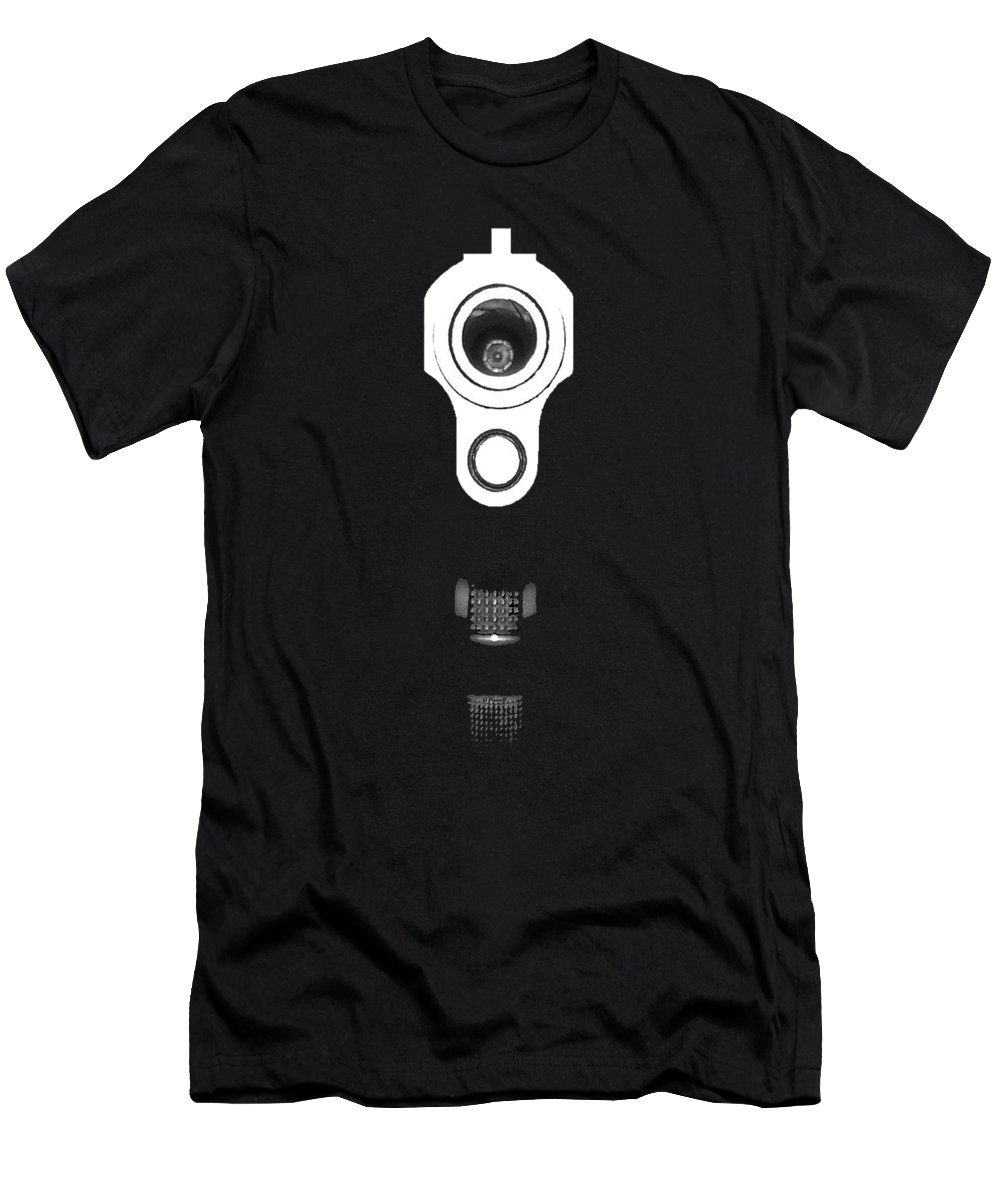 Gun Men's T-Shirt (Athletic Fit) featuring the photograph Locked And Loaded .png by Al Powell Photography USA
