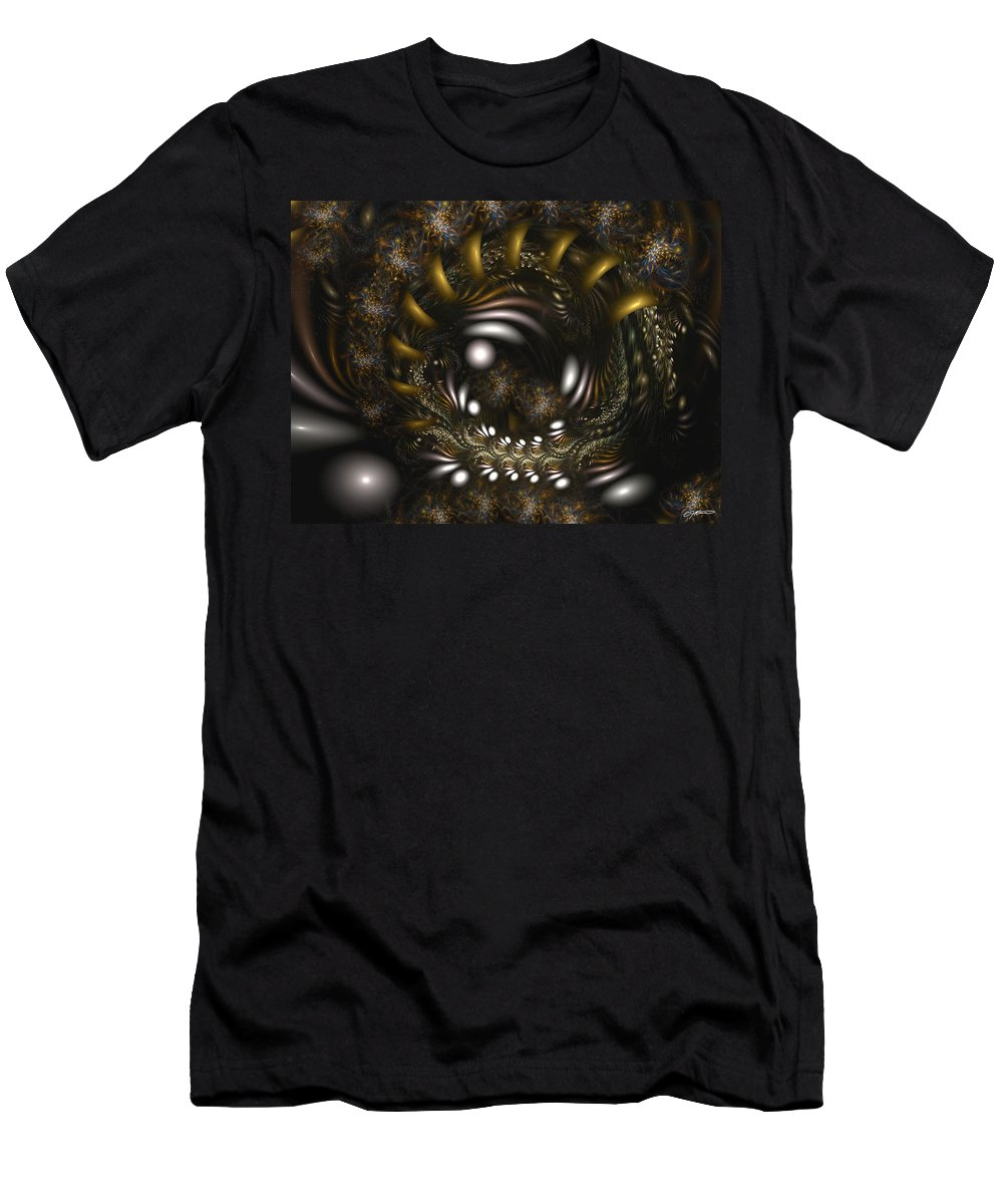 Abstract Men's T-Shirt (Athletic Fit) featuring the digital art Locked In Nature's Embrace by Casey Kotas
