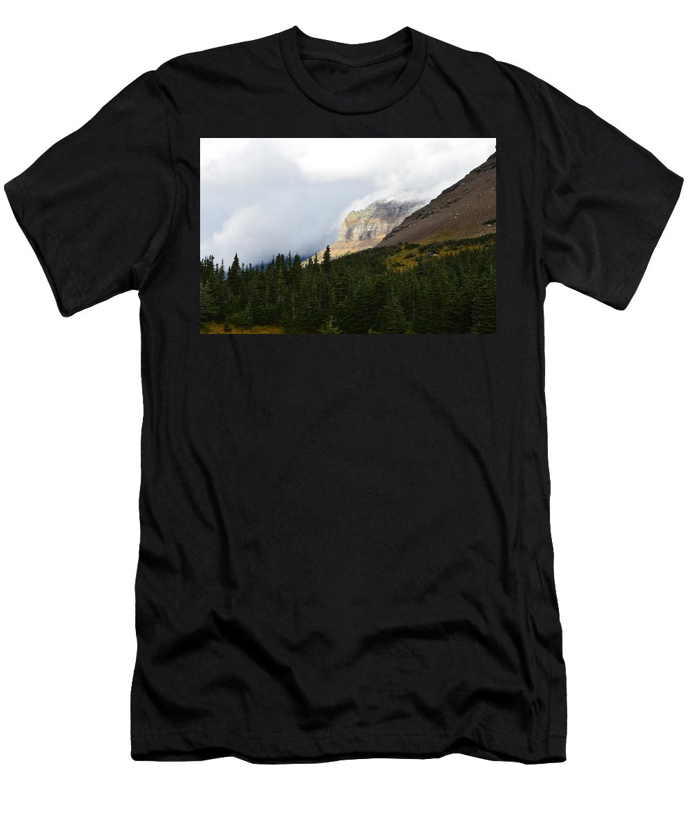 Mountains Men's T-Shirt (Athletic Fit) featuring the photograph Logan Pass by Dale Cash