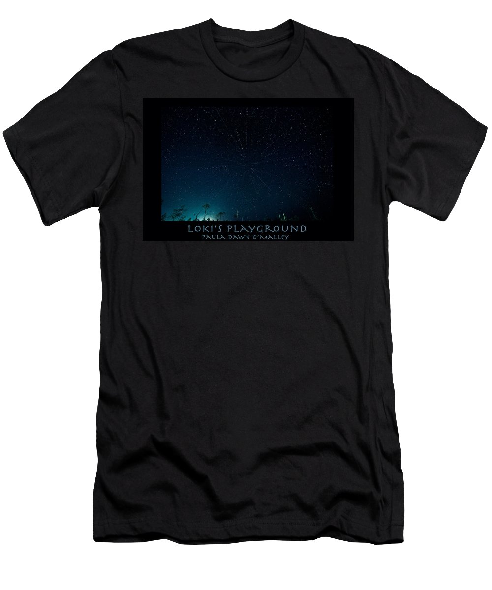 Stars Men's T-Shirt (Athletic Fit) featuring the photograph Loki's Playground by Paula OMalley