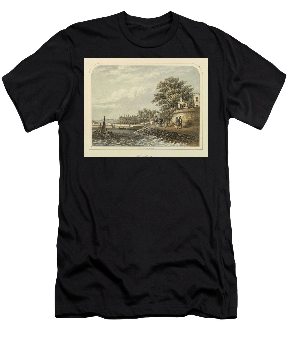 Nature Men's T-Shirt (Athletic Fit) featuring the painting London West Cowes, Isle Of Wight by Artistic Rifki