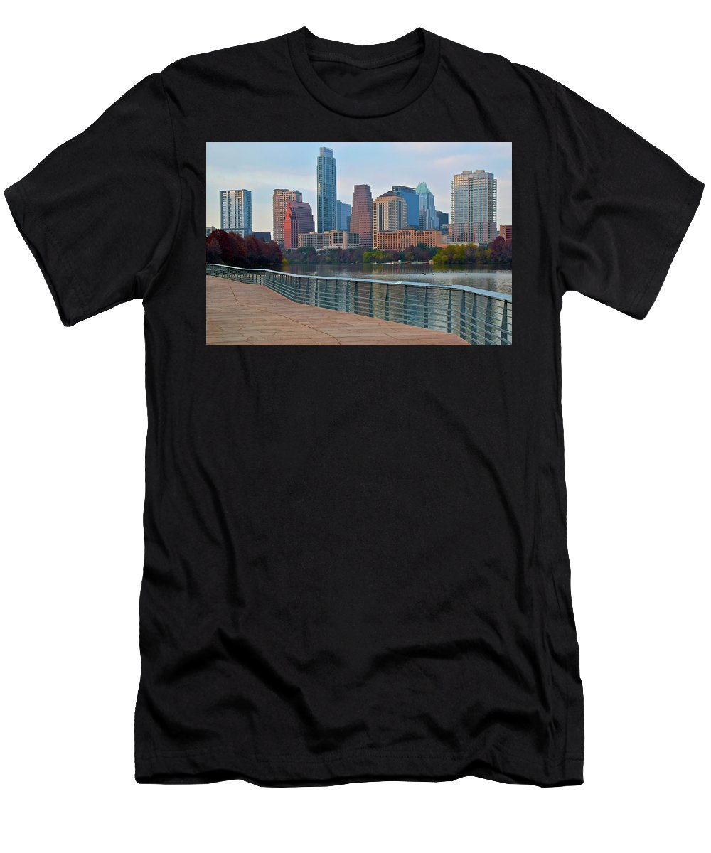 Austin Men's T-Shirt (Athletic Fit) featuring the photograph Lone Star State Capitol Ahead by Frozen in Time Fine Art Photography