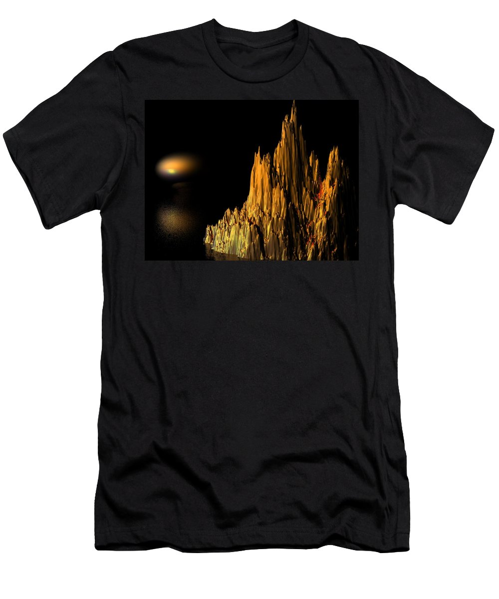 Surreal Men's T-Shirt (Athletic Fit) featuring the digital art Loneliness by Oscar Basurto Carbonell
