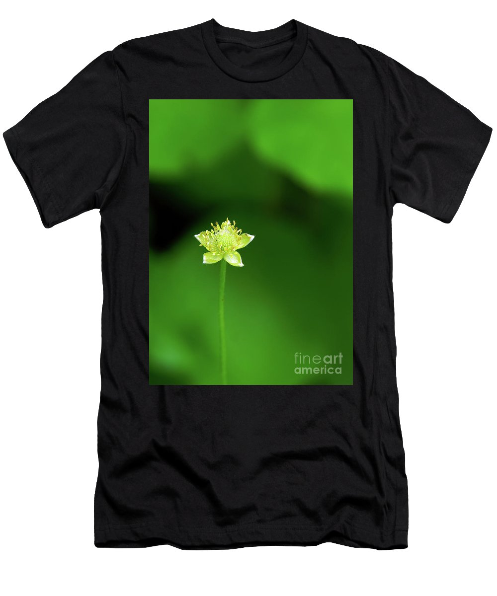 Yellow Men's T-Shirt (Athletic Fit) featuring the photograph Lonely Avens by Robin Clifton
