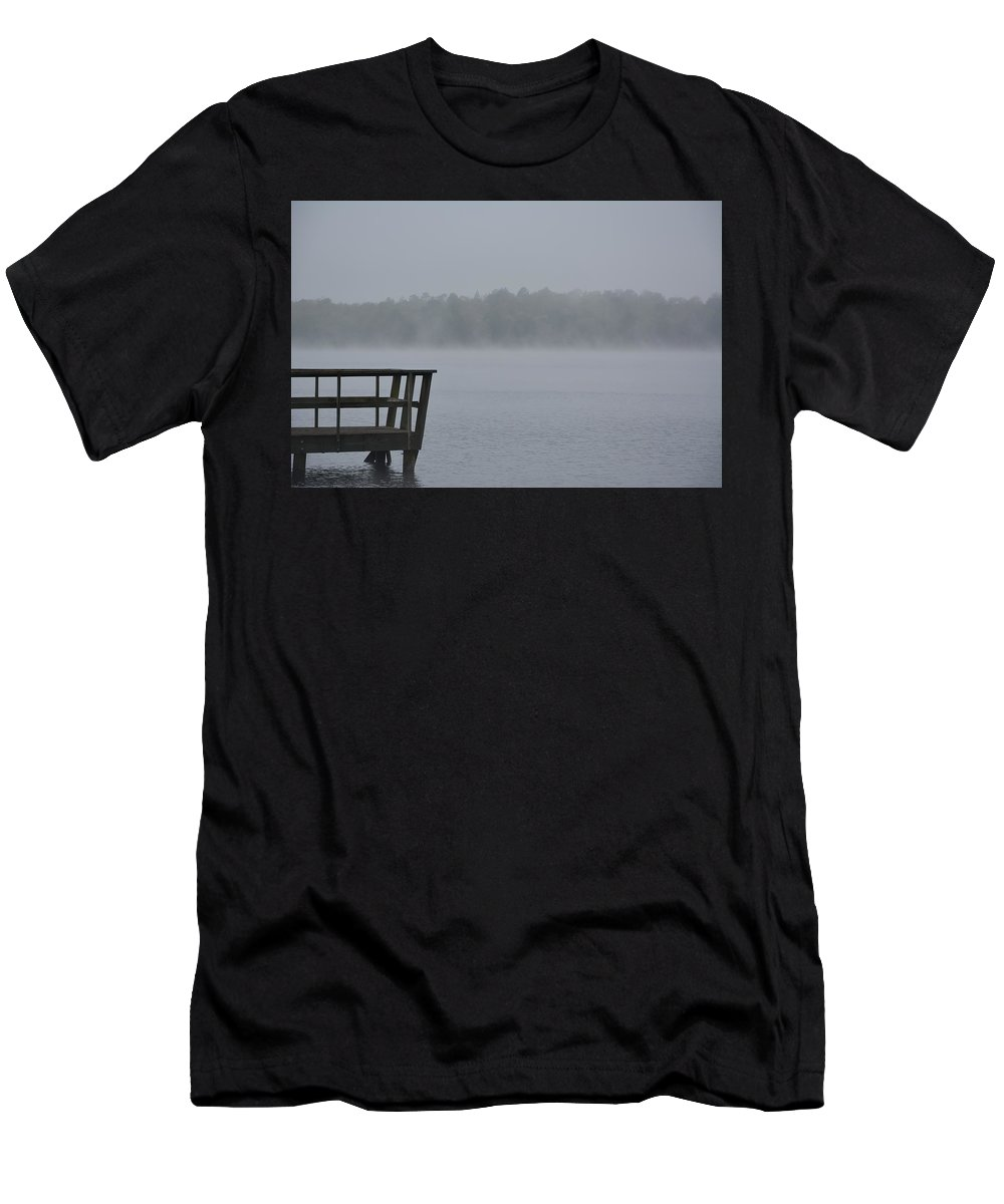 Lonely On The Lake Men's T-Shirt (Athletic Fit) featuring the photograph Lonely On The Lake by Charlie Day