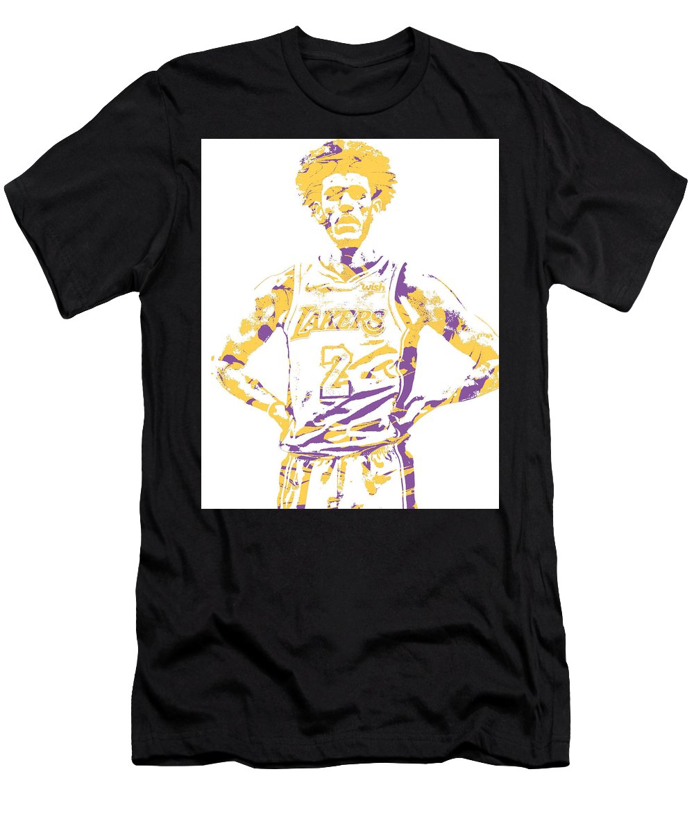 new styles 1b287 a61b6 Lonzo Ball Los Angeles Lakers Pixel Art 3 Men's T-Shirt (Athletic Fit)