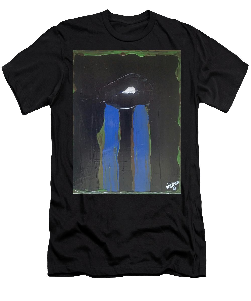 Abstract Men's T-Shirt (Athletic Fit) featuring the painting Looker by Peter Nervo