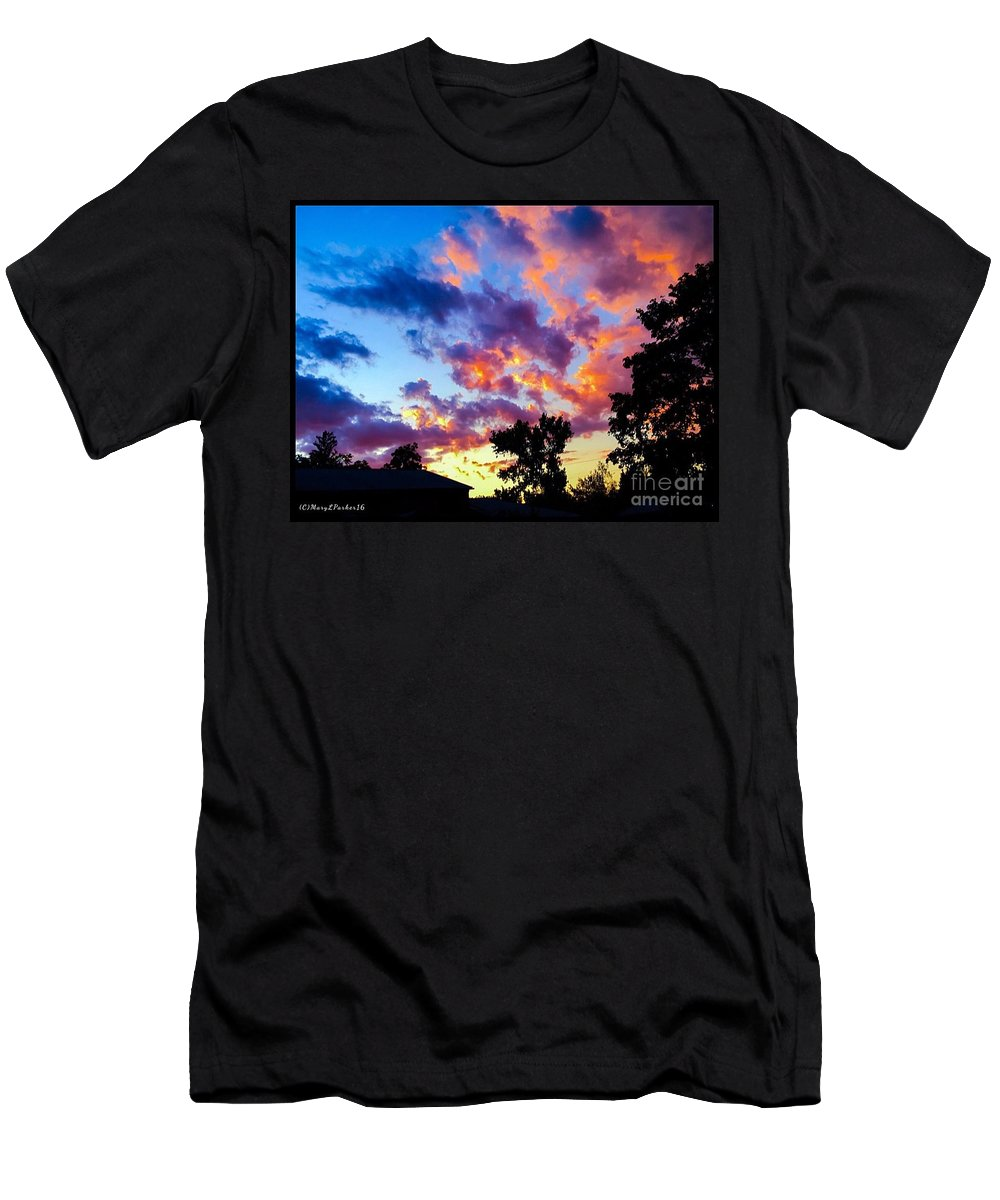 Photography Men's T-Shirt (Athletic Fit) featuring the photograph Looking At The Sunset by MaryLee Parker