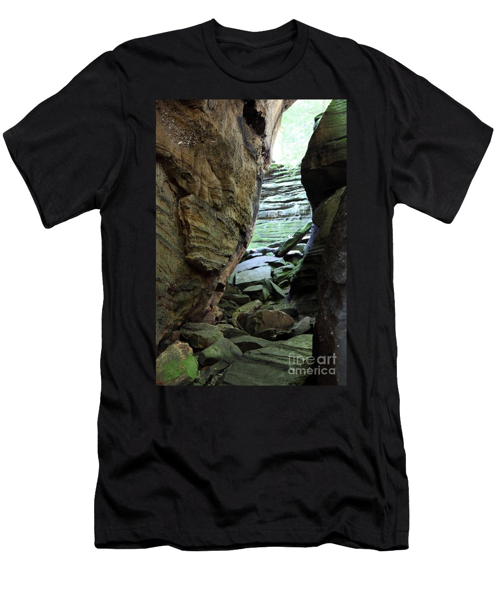 Faces Men's T-Shirt (Athletic Fit) featuring the photograph Looking Glass by Amanda Barcon