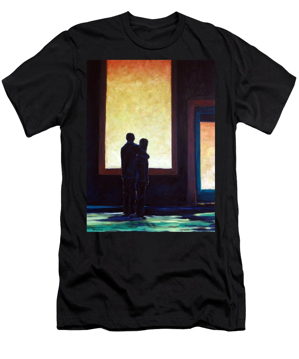 Pranke Men's T-Shirt (Athletic Fit) featuring the painting Looking In Looking Out by Richard T Pranke