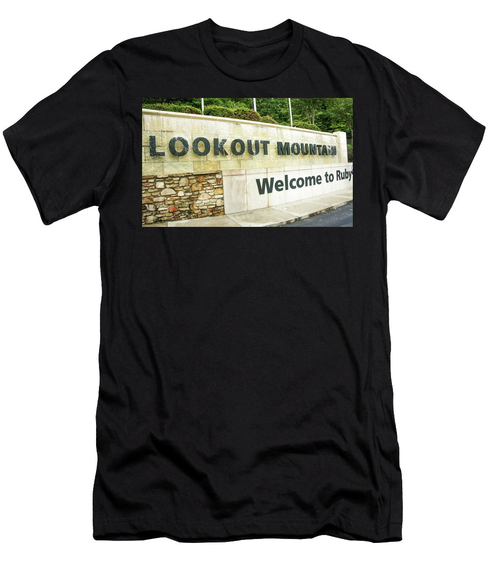 Lookout Mountain Men's T-Shirt (Athletic Fit) featuring the photograph Lookout Mountain by Art Spectrum