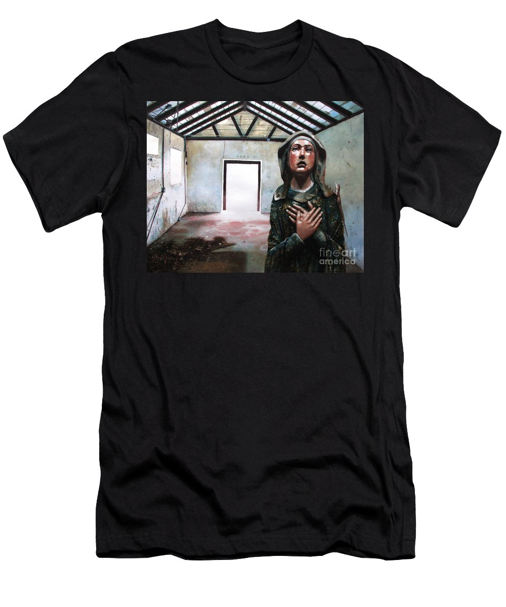 Icon Men's T-Shirt (Athletic Fit) featuring the painting Losing My Religion by Denny Bond