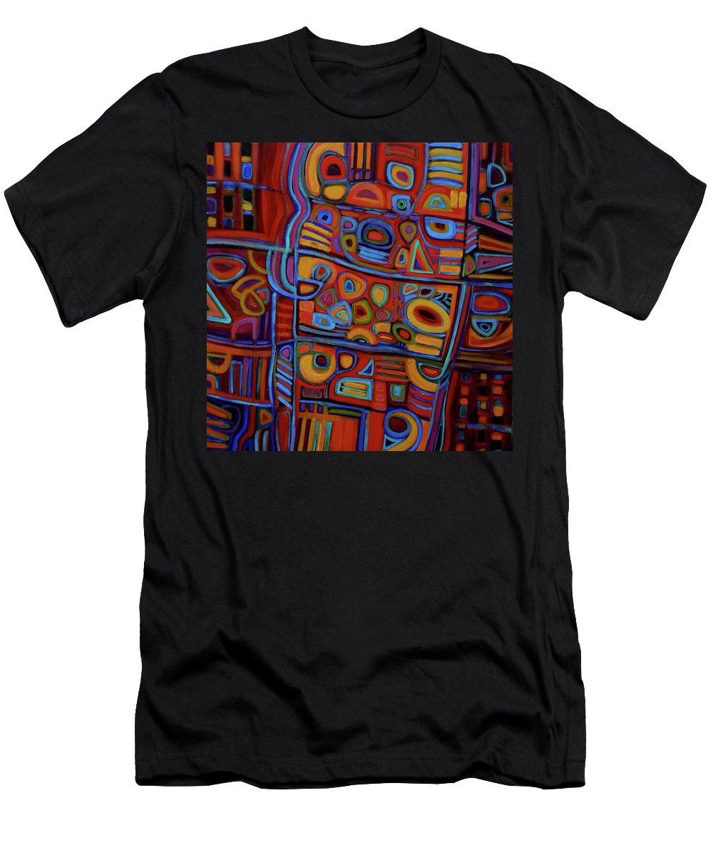 Abstract Men's T-Shirt (Athletic Fit) featuring the painting Lost And Found by Genevie Henderson