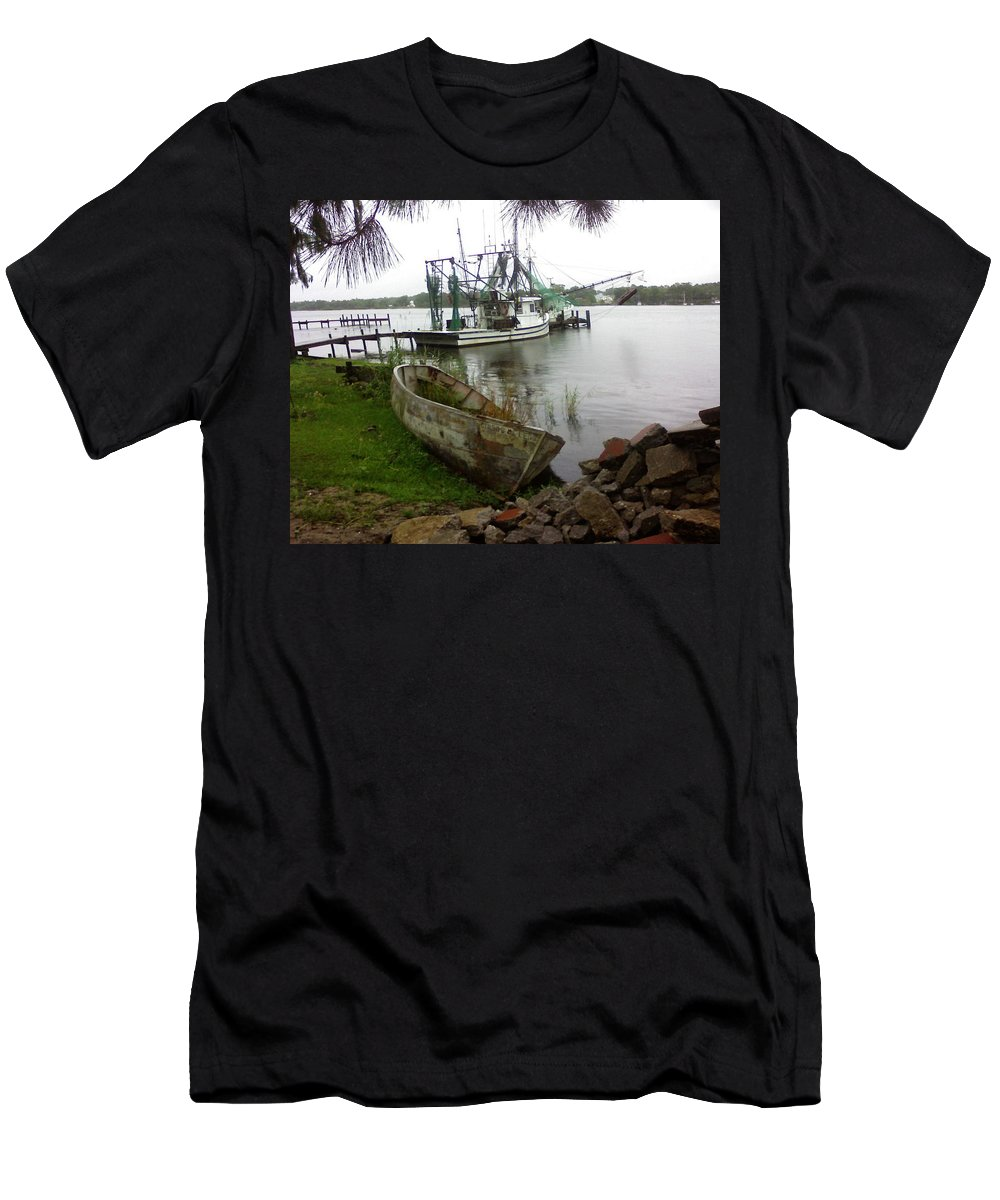 Boat Men's T-Shirt (Athletic Fit) featuring the photograph Lost Boat by Patricia Caldwell