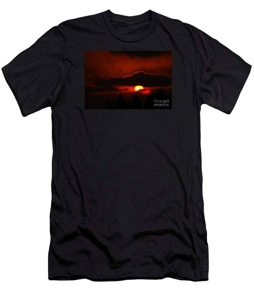 Sunset Men's T-Shirt (Athletic Fit) featuring the photograph Lost In Thought by Linda Shafer