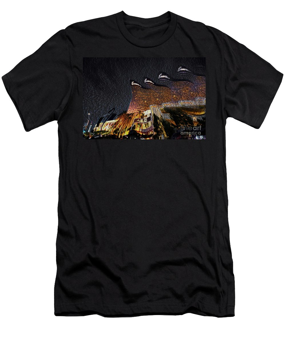 Las Vegas Men's T-Shirt (Athletic Fit) featuring the mixed media Lost In Vegas by Sunny Augustine