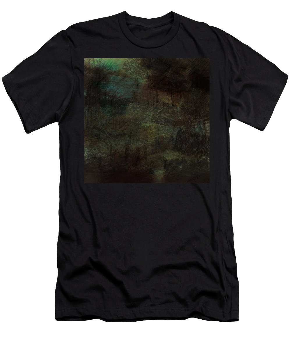Abstract Men's T-Shirt (Athletic Fit) featuring the digital art Lost Memories by Rachel Christine Nowicki