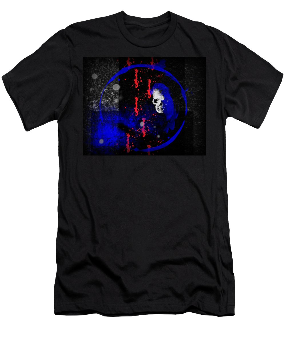 Lost Men's T-Shirt (Athletic Fit) featuring the digital art Lost Soul by Michael Damiani