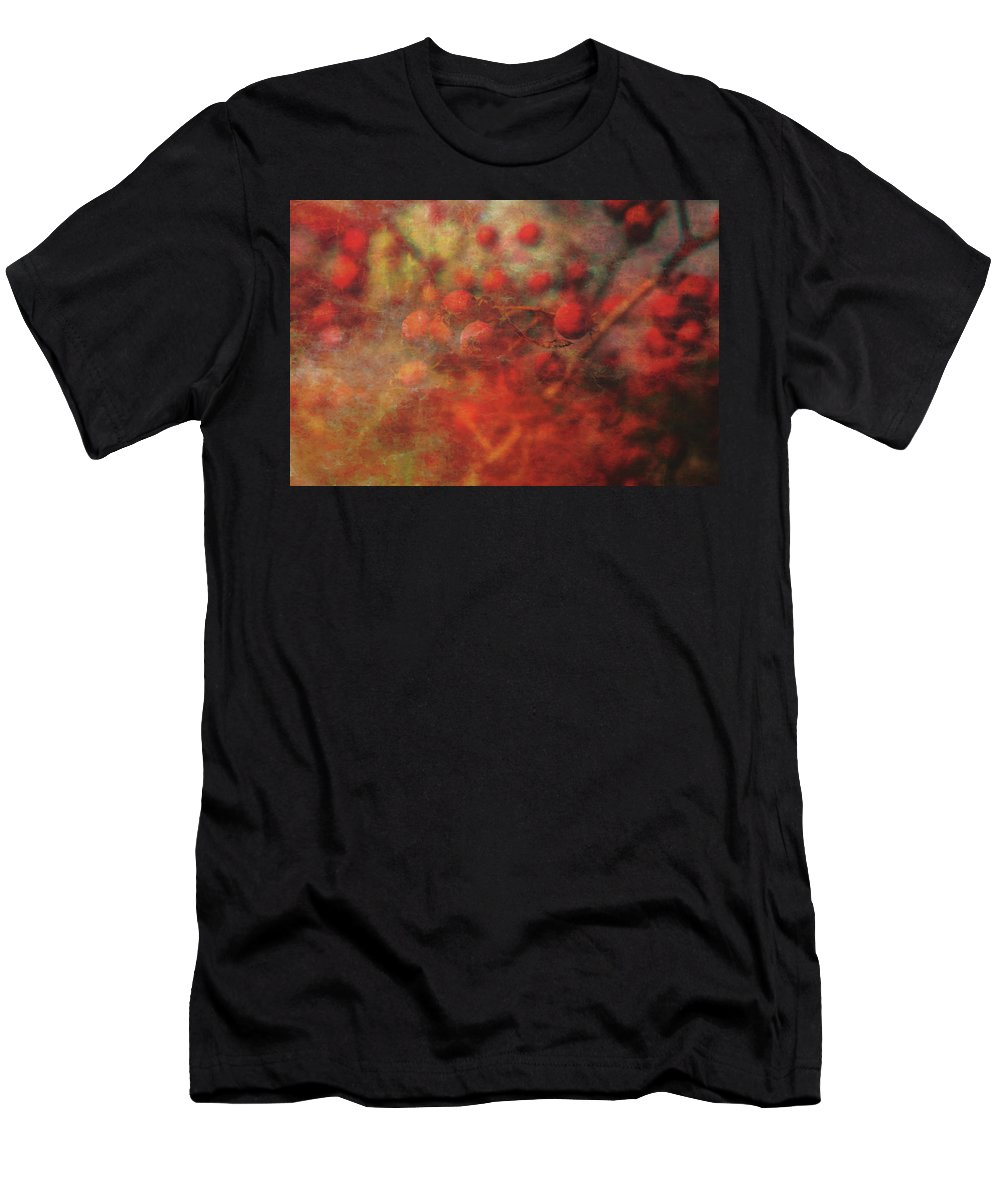 Lost Men's T-Shirt (Athletic Fit) featuring the photograph Lost Vintage Crabapples 5942 Ldp_2 by Steven Ward