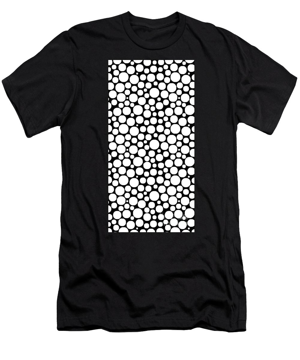 Bubbles Men's T-Shirt (Athletic Fit) featuring the digital art Lots Of Bubbles 1 Case by Edward Fielding