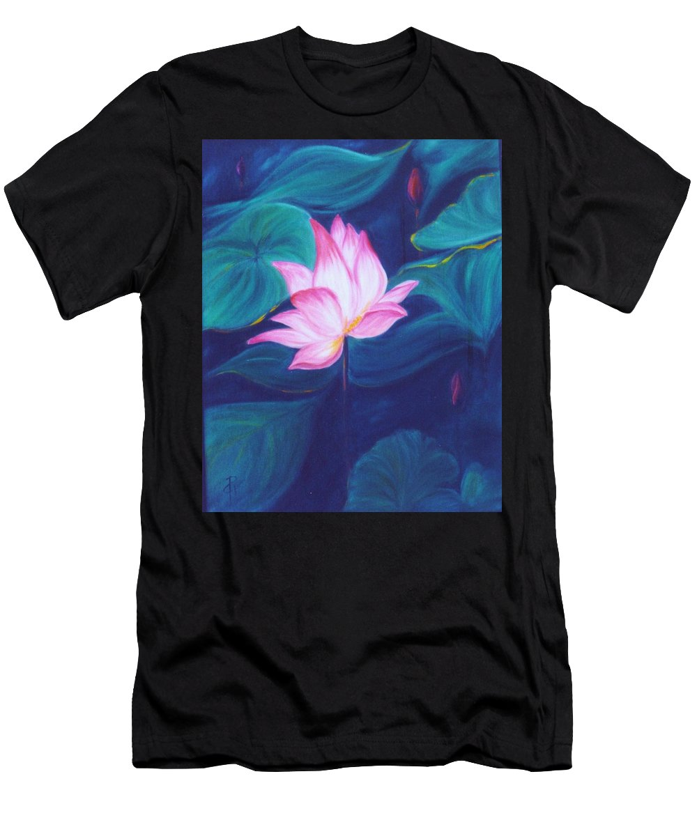 Floral Men's T-Shirt (Athletic Fit) featuring the painting Lotus by Dina Holland