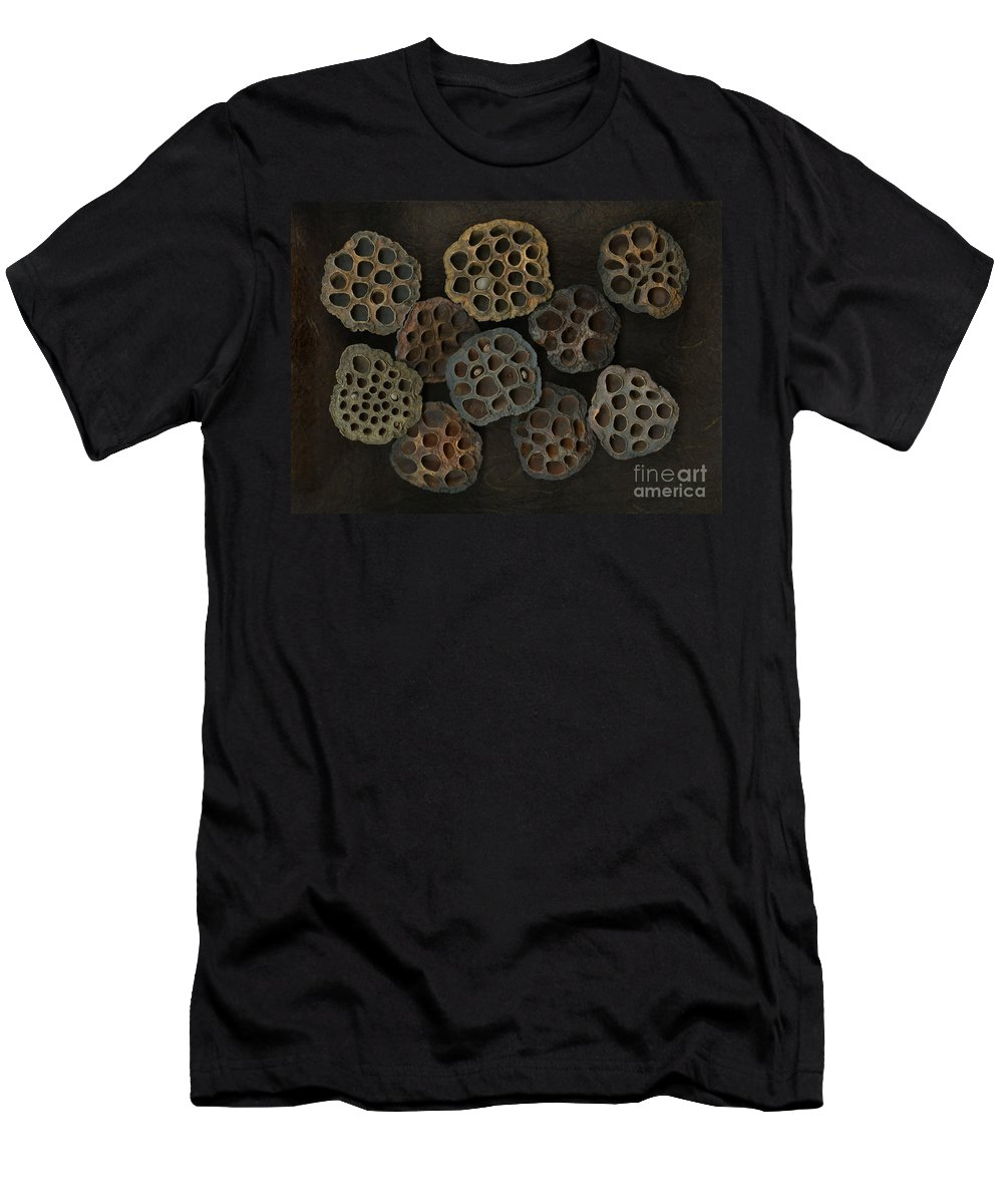 Lotus T-Shirt featuring the photograph Lotus Pods by Christian Slanec