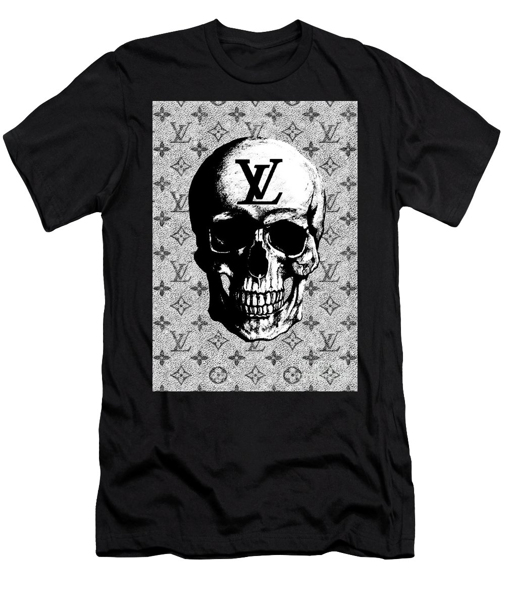 2f51b78cf80a Louis Vuitton Skull Print Men s T-Shirt (Athletic Fit) featuring the mixed  media