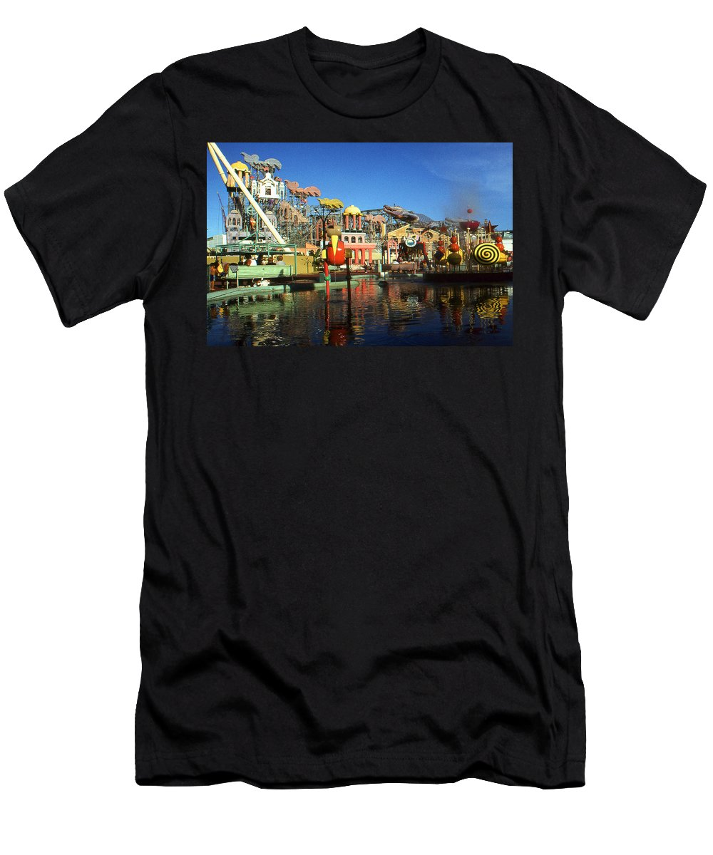 New+orleans Men's T-Shirt (Athletic Fit) featuring the photograph Louisiana Worlds Fair 1984 - New Orleans Photo Art by Peter Potter