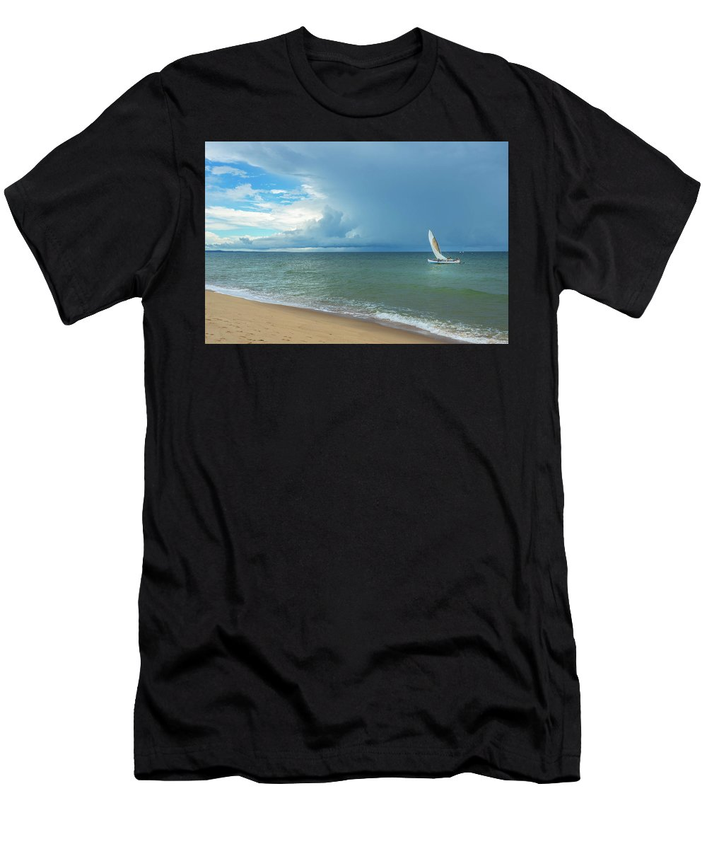 Sun Men's T-Shirt (Athletic Fit) featuring the photograph Love And Serenity by Louloua Asgaraly