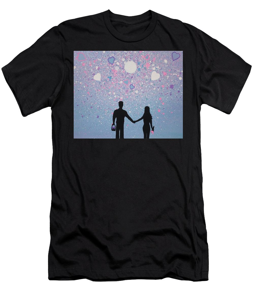 Men's T-Shirt (Athletic Fit) featuring the painting Love by Dan Schepperly